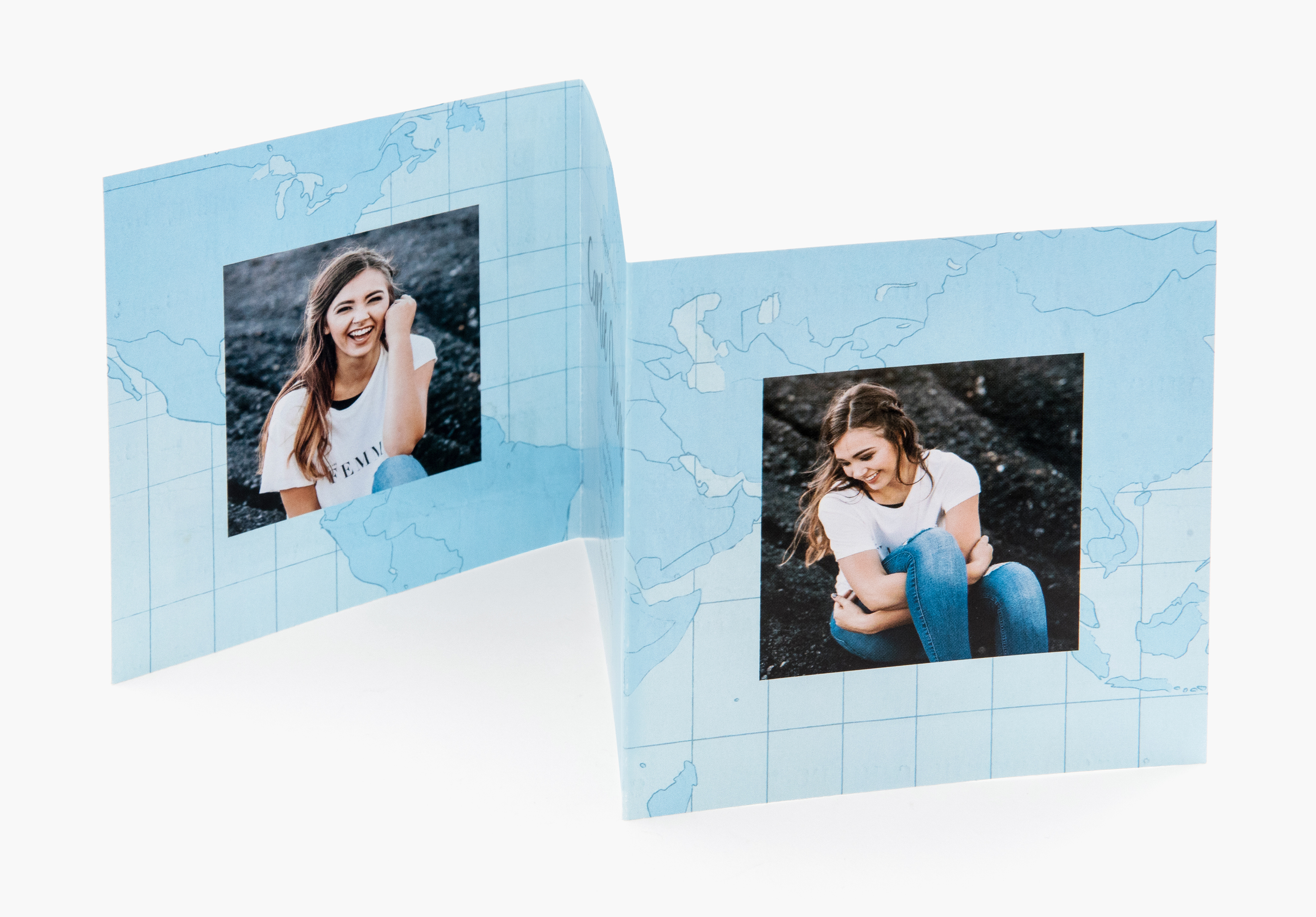 Tri Fold Photo Cards Custom Paper Types Envelopes Included