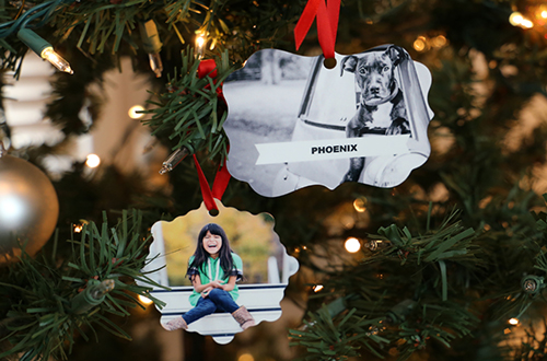 custom photo ornaments