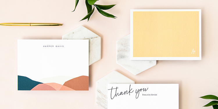 Three Custom Stationery Cards