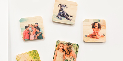 Three custom Wooden Magnets
