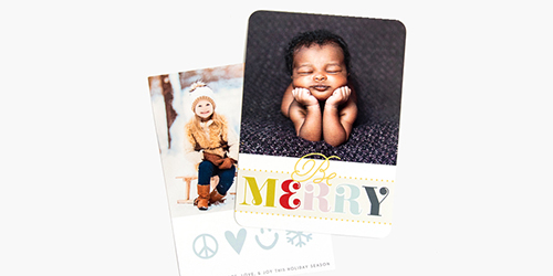 Custom Merry Christmas Holiday Cards