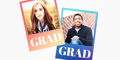 Teens on Custom Graduation Announcement Photo Cards