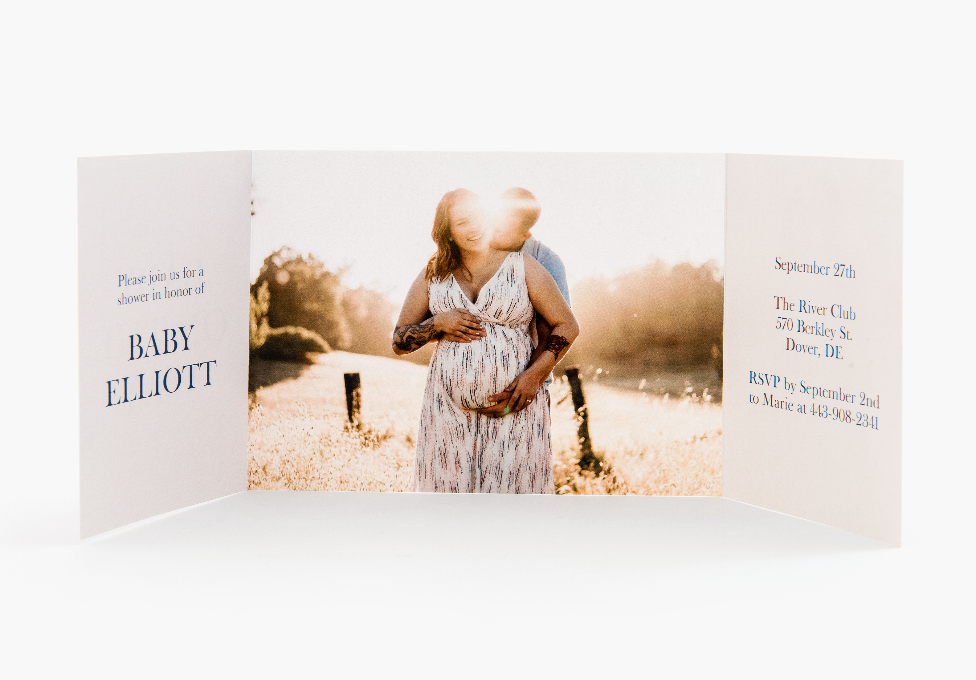 Gatefold Photo Greeting Cards Professional Gate Fold Cards