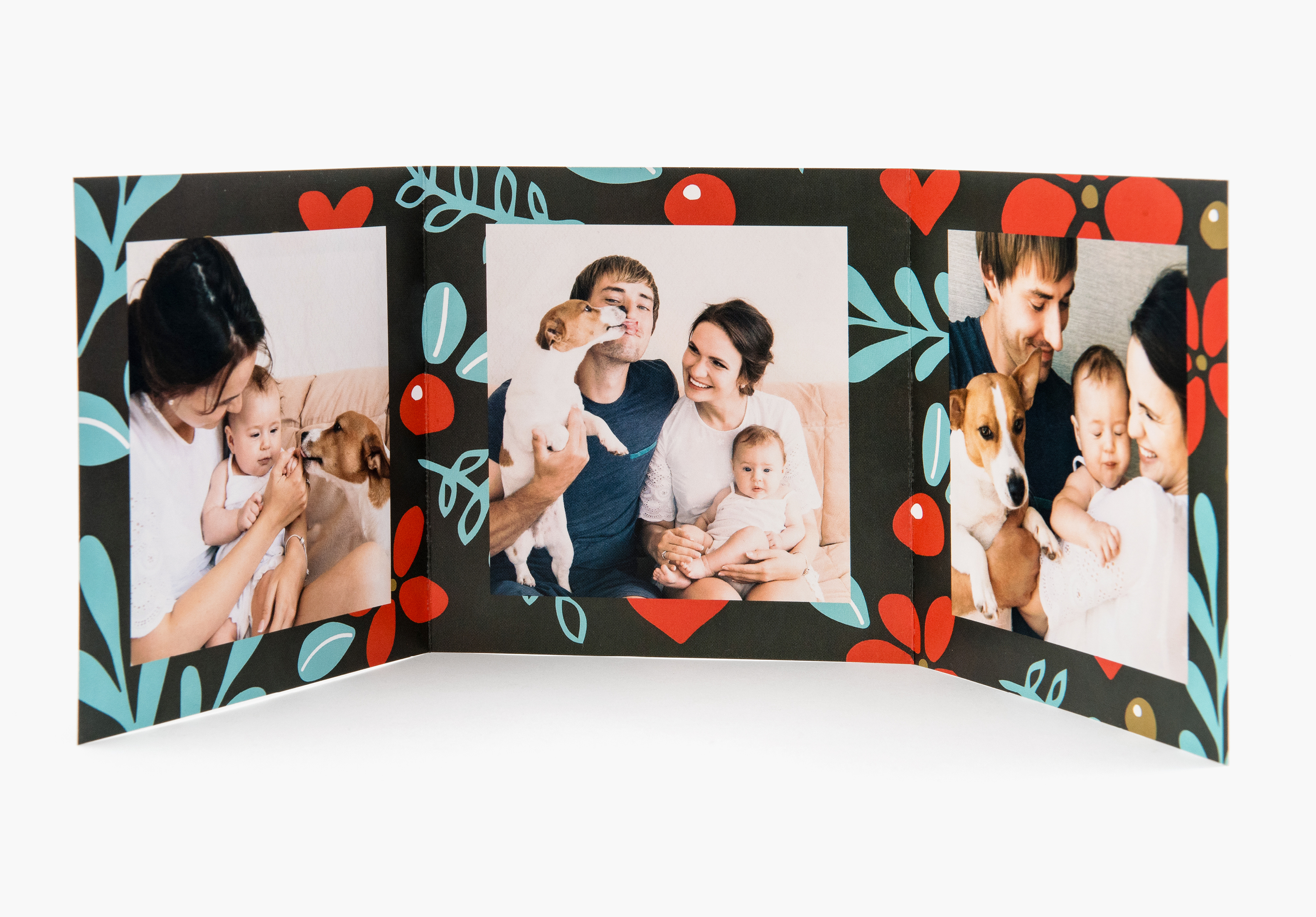 Tri Fold Photo Cards - Custom Paper Types -Envelopes Included