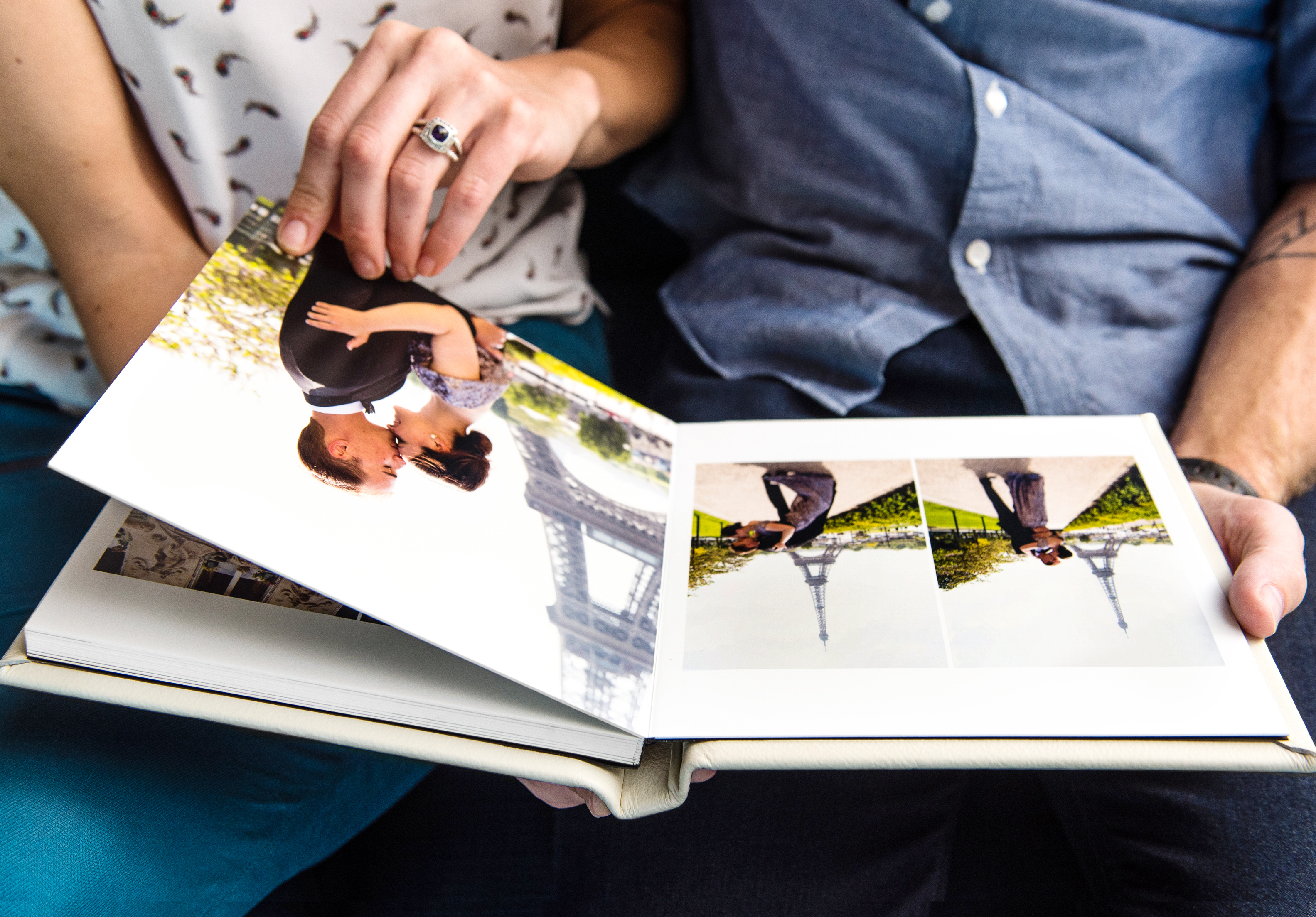 Luxury Hand stitched Album Glassine Sheets.. Boxed Wedding Album PERSONALISED