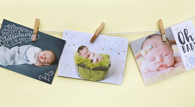 Custom Photo Adoption Announcements