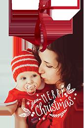cheerful greeting - Christmas Card Ornaments