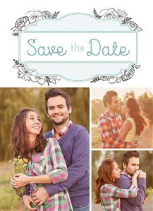 Couple on a Custom Save The Date Photo Card