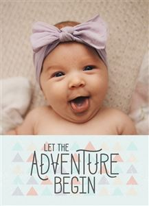 Laughing baby on a Custom Announcement Photo Card