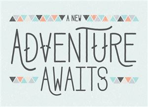 Adventure awaits themed Custom Announcement Photo Card