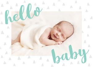 Sleeping baby on a Custom Announcement Photo Card