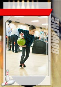 custom bowling trading card