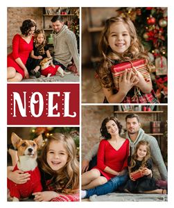 Christmas themed Custom Photo Blanket