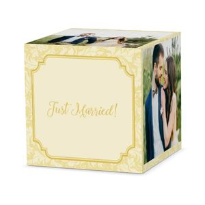 just married couple on custom classic charm cube