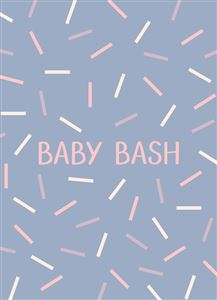 Confetti-Themed Birth Announcement Card