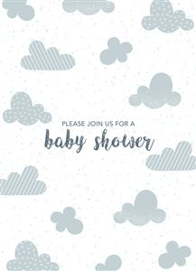 Sleeping baby boy photo gallery on a Custom Birth Announcement Photo Card