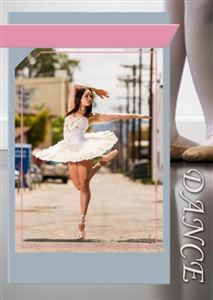 custom dance trading card
