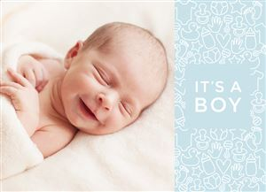 Newborn baby on a Custom Birth Announcement Photo Card