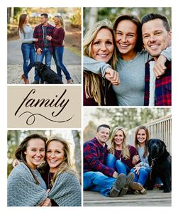 Family themed Custom Photo Blanket