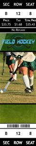 Field hockey player on a Personalized Sport Photo Ticket