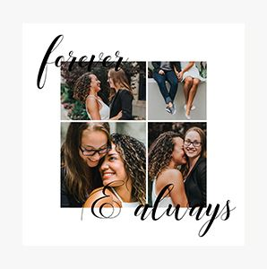 Forever & Always themed Collage Photo Prints for couples