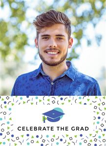 Smiling highschooler boy on a Custom Graduation Photo Card