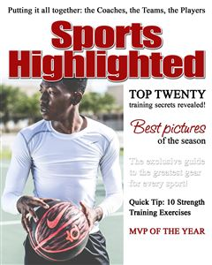 basketball player on the court on the cover of a custom sports Magazine Cover