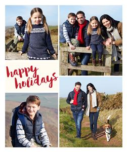 Happy Holidays on a custom Photo Blanket