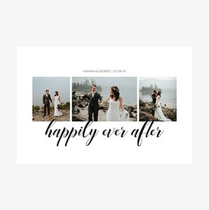 Happily ever after Custom Collage Photo Prints