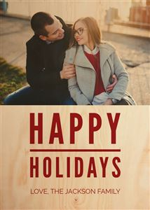smiling couple on a Happy Holidays Portrait