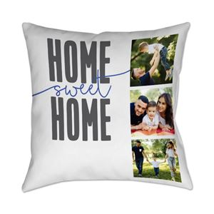 Home Sweet Home themed Custom Photo Pillow