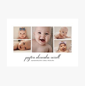 Newborn baby themed Custom Collage Photo Print