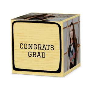 Congrats grad on custom black letter block