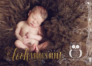 sleeping newborn baby on a Custom Real Foil Stamp Card