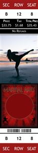 karate on the beach on a Personalized Martial Arts Sports Photo Ticket