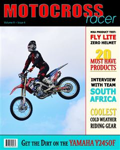 Motorcross rider in the air on the cover of a Magazine