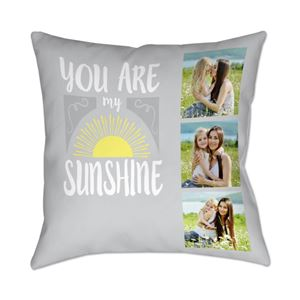 Mom and daughter on a sunshine themed Custom Photo Pillow