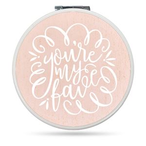 Couple kissing on a Your my favorite Custom Compact Mirror