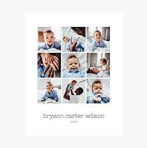 New Baby themed Custom Collage Photo Print