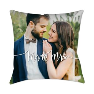 Just married Custom Photo Pillow