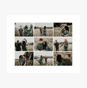 Couples journey on a Custom Collage Photo Print