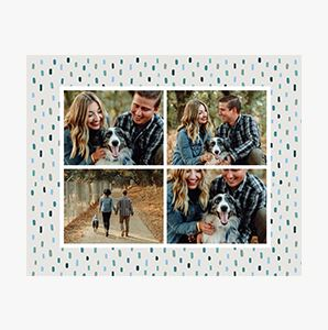 Pattern bordered Custom Collage Photo Print