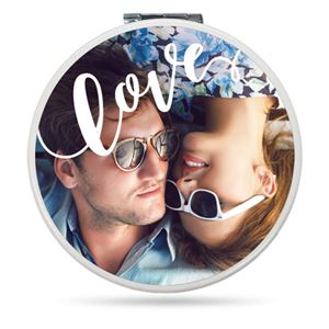 Couple in sunglasses hanging out on a Custom Compact Mirror
