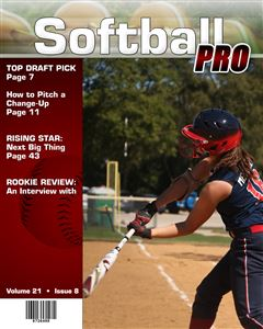 Softball player at-bat on the cover of a custom Sports Magazine