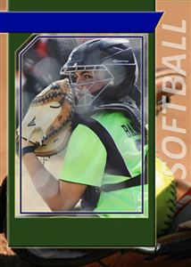 softball custom card