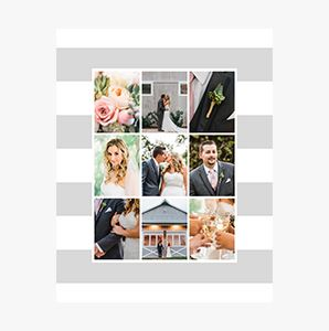 Striped themed Custom Collage Photo Print