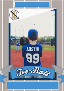 Custom T-ball trading card