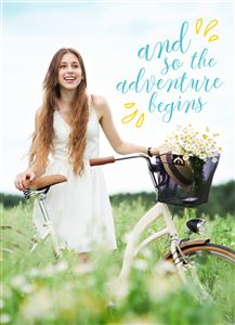 Adventure Begins Themed Custom Graduation Card