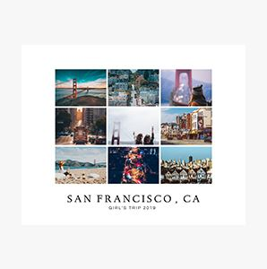 San Francisco, CA in pictures on a Custom Collage Photo Print