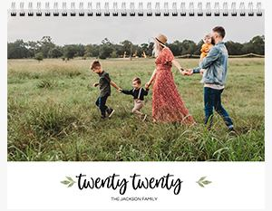 Family of 6 on a Custom 12 Month Flip Calendar